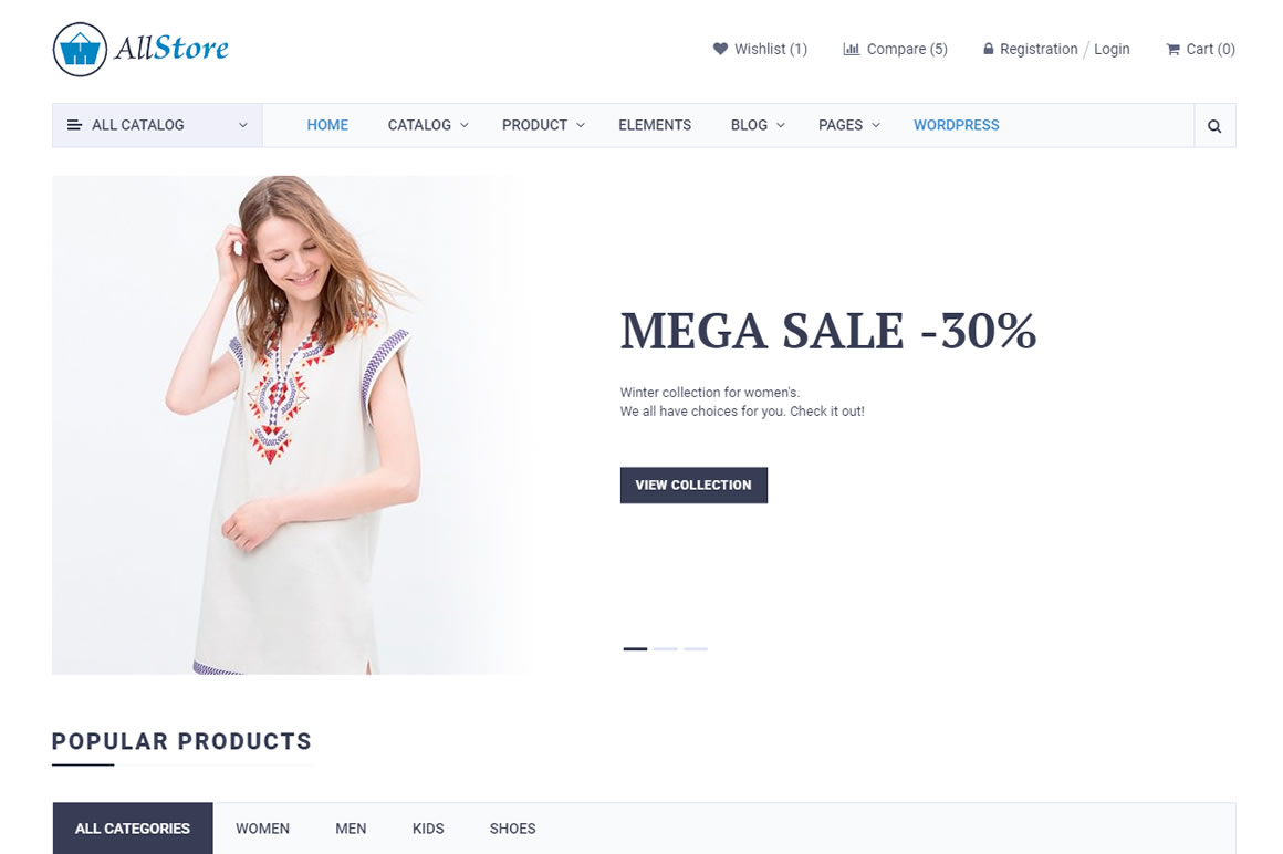 Allstore Free Ecommerce Shop Html Template Wpbonsai