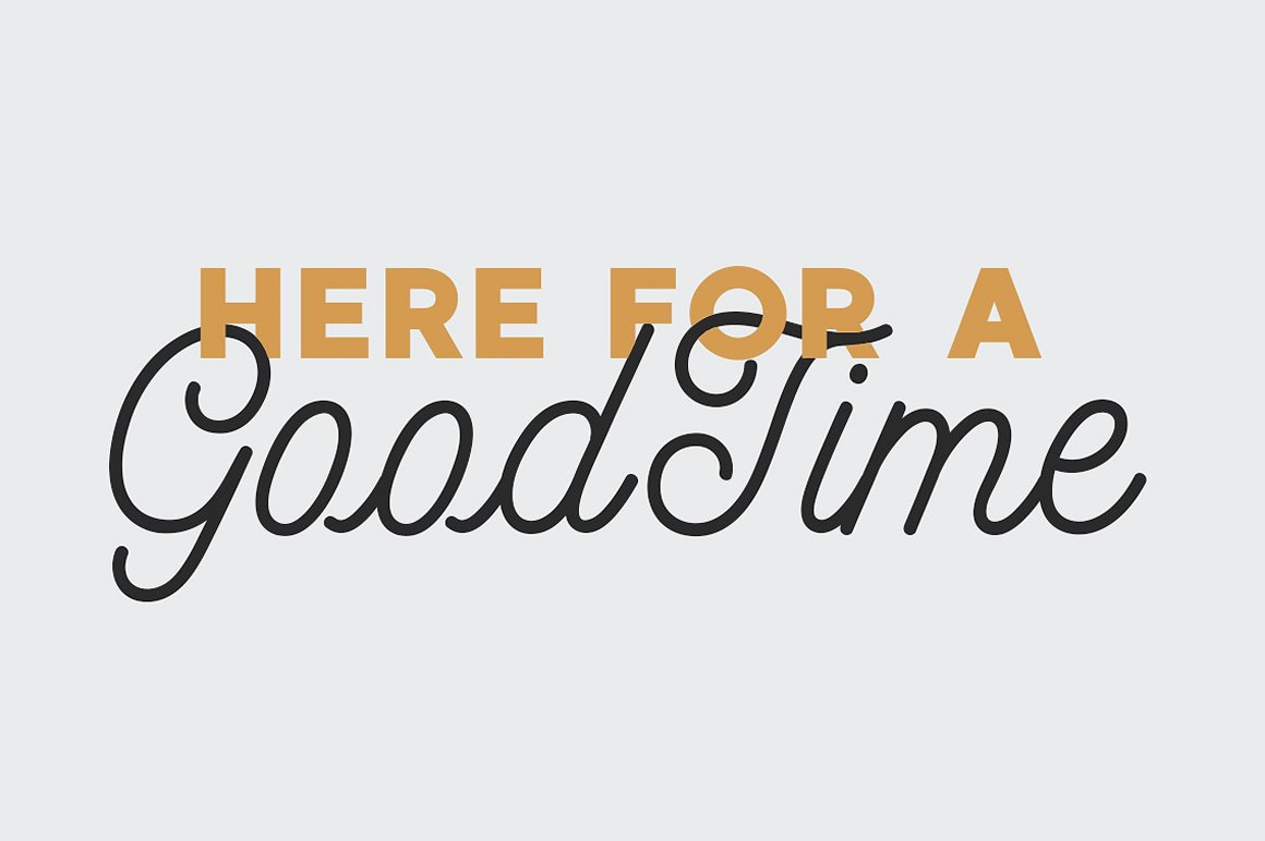 Free Font: GoodTime Script Font – WPbonsai com