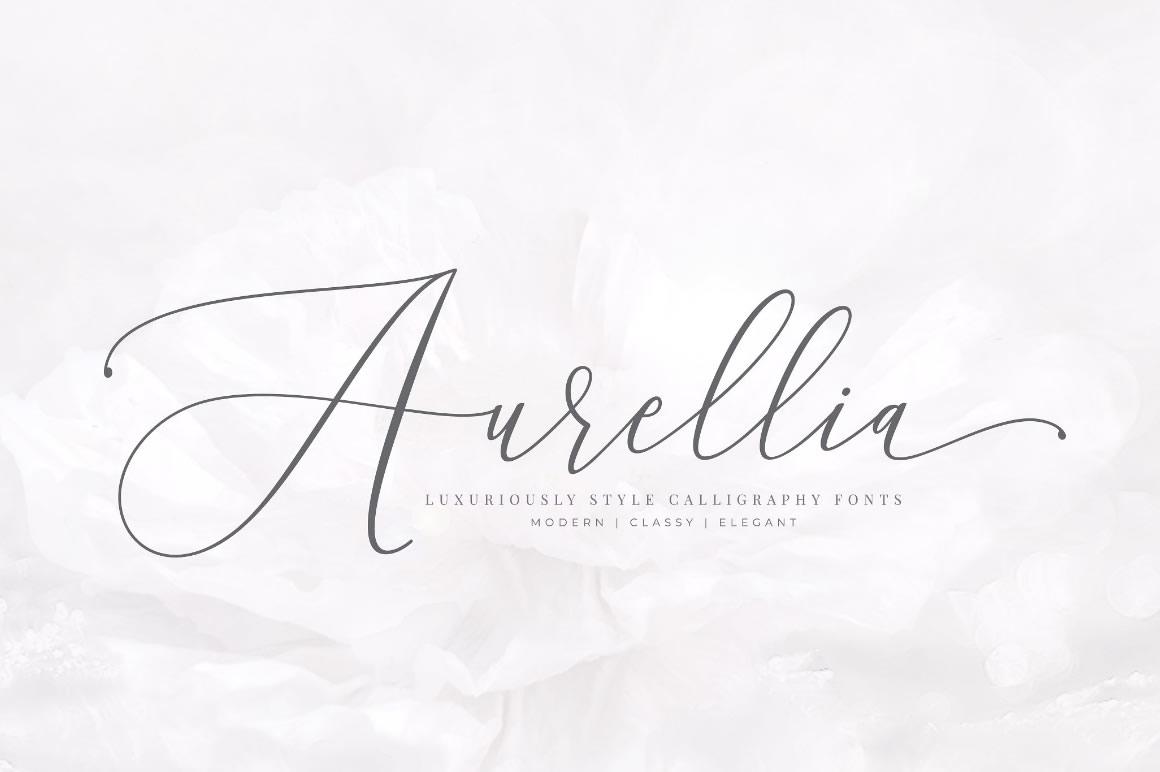 Aurellia Free Script Classy Font – WPbonsai com